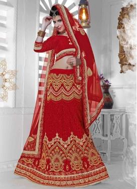 Royal Beads And Resham Work Bridal Lehenga Choli
