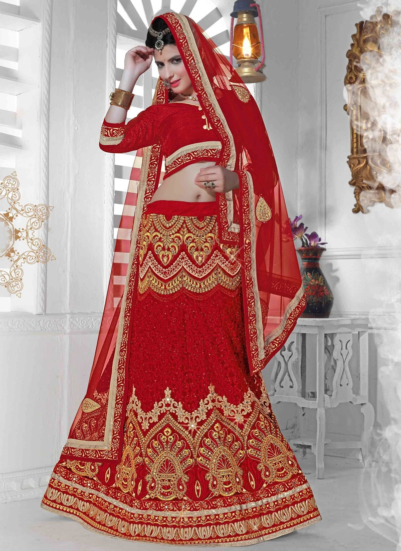 Royal Beads And Resham Work Bridal Lehenga Choli