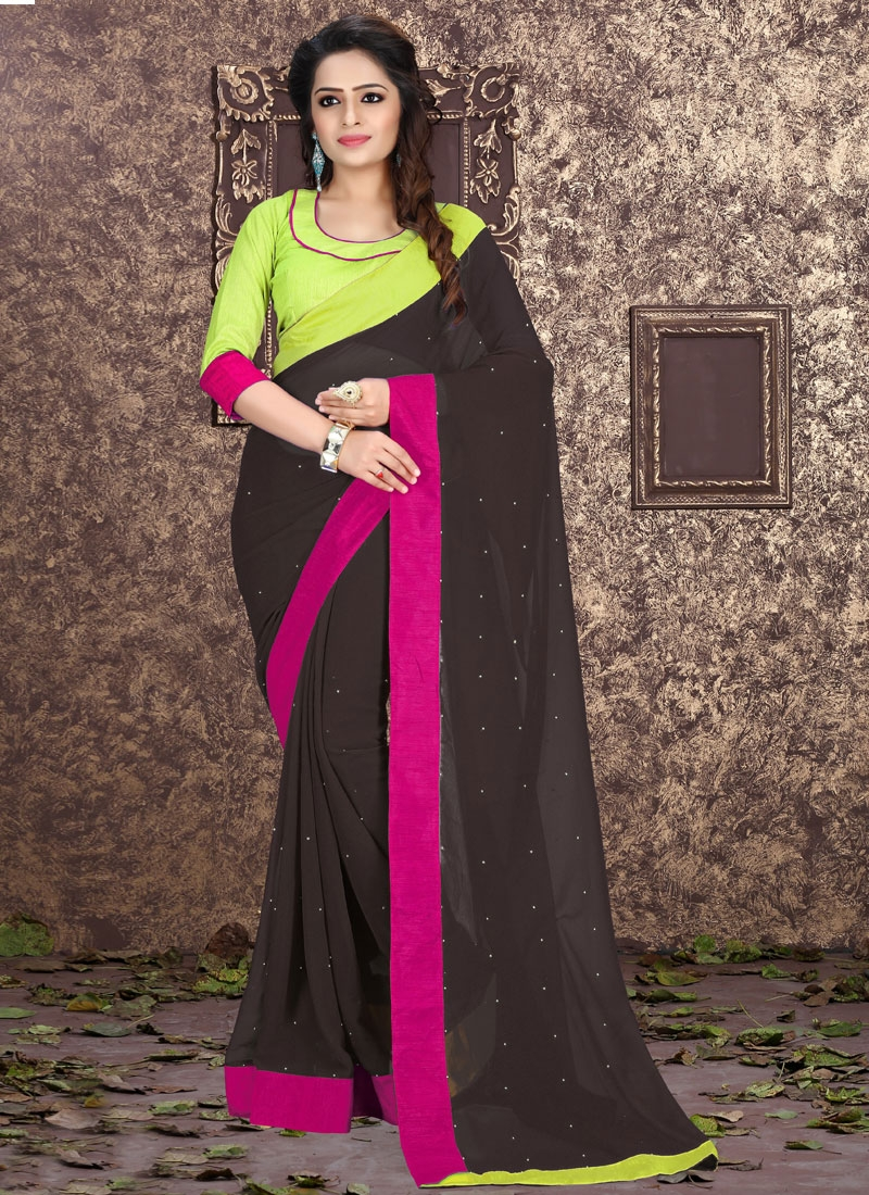 Royal Faux Georgette Casual Saree