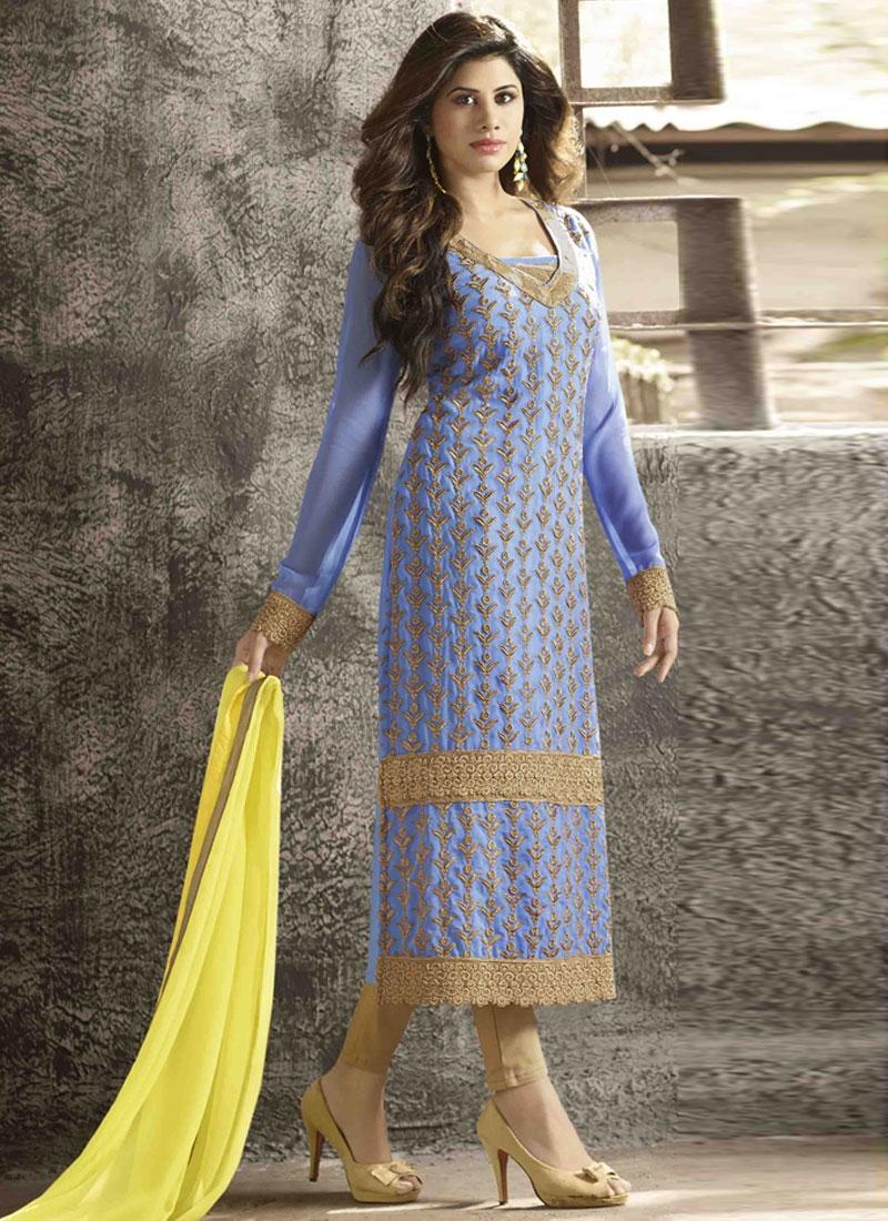 Royal Lace Work Pant Style Pakistani Suit