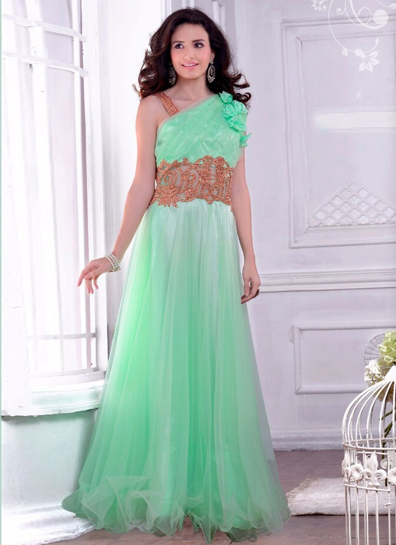 Royal Stone Work Floor Length Party Wear Gown
