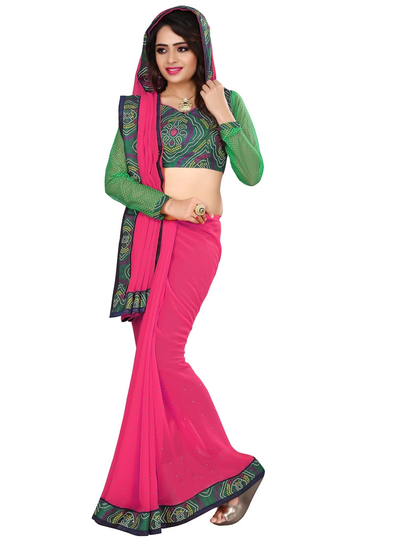 Ruritanian Beads Work Casual Saree