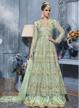 Ruritanian Embroidered Work Net Layered Designer Salwar Kameez