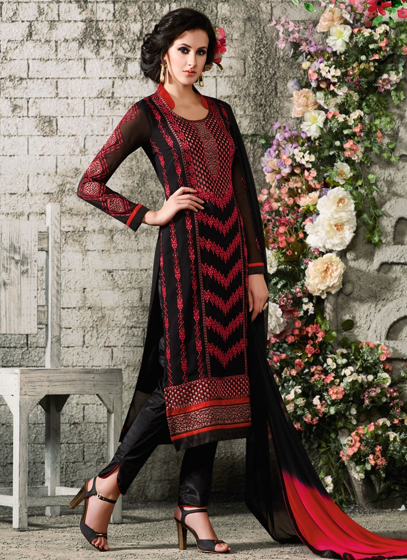 Ruritanian Embroidery Work Party Wear Salwar Suit