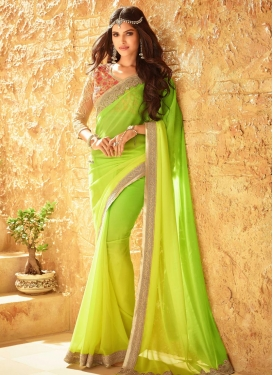 Ruritanian Faux Georgette Traditional Saree
