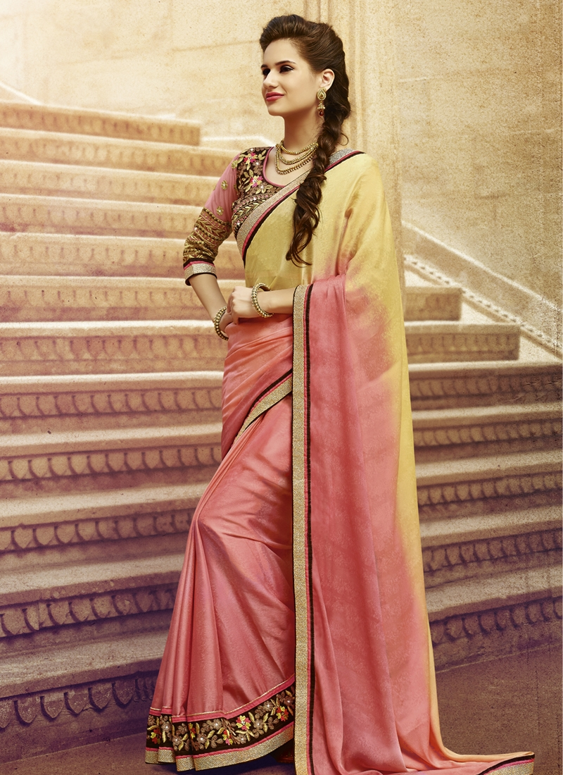 Ruritanian Jacquard Lace Work Party Wear Saree