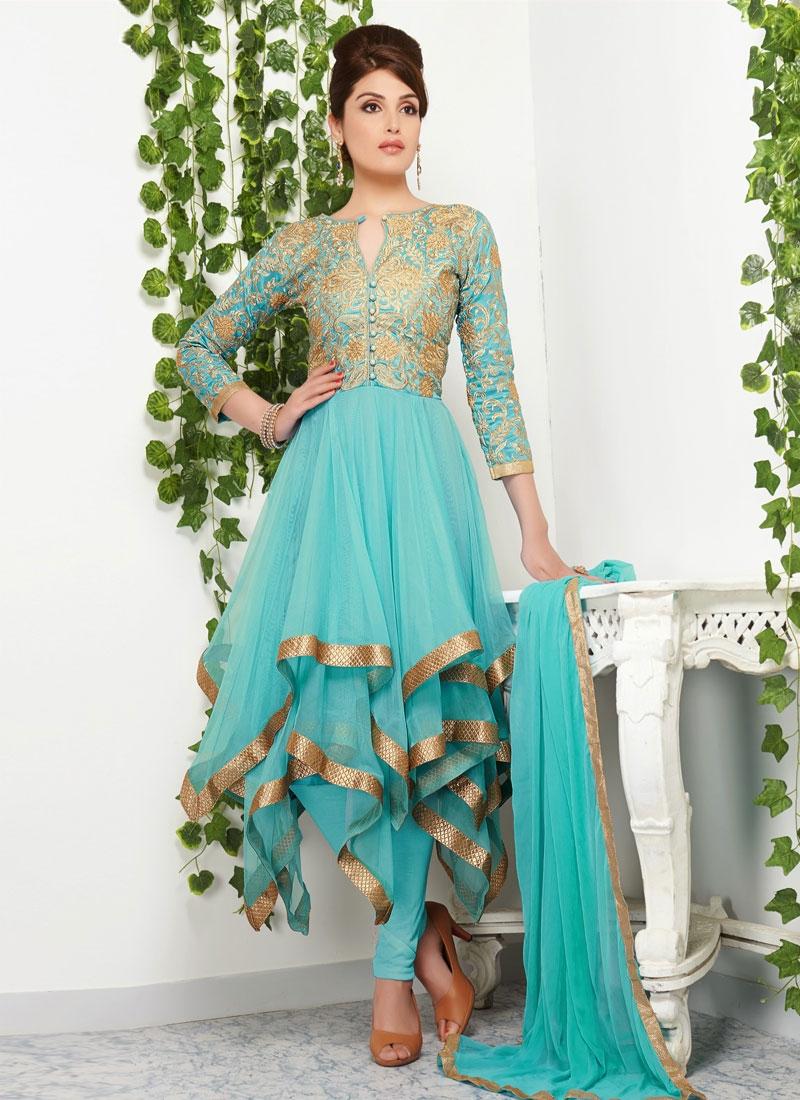 Ruritanian Resham Work Net Designer Salwar Kameez