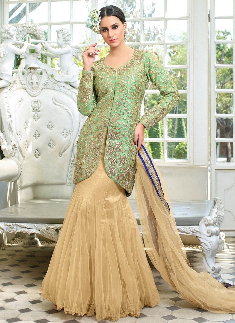 Ruritanian Stone Work Silk And Net Designer Lehenga Choli