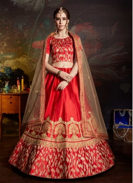 Satin A - Line Lehenga For Bridal