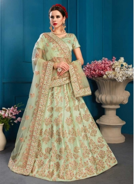 Satin A - Line Lehenga For Festival