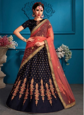 Satin Embroidered Work Designer Lehenga Choli