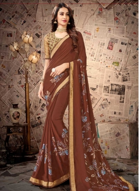 Satin Georgette Classic Saree For Casual