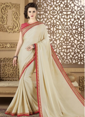 Satin Georgette Contemporary Style Saree For Ceremonial