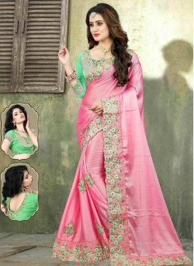 Satin Georgette Designer Traditional Saree