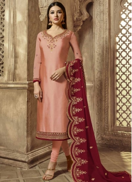 Satin Georgette Pakistani Salwar Suit