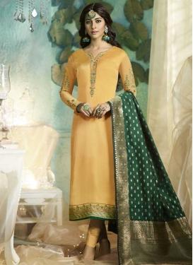 Satin Georgette Pant Style Pakistani Salwar Kameez For Festival