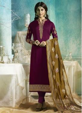 Satin Georgette Pant Style Pakistani Salwar Suit