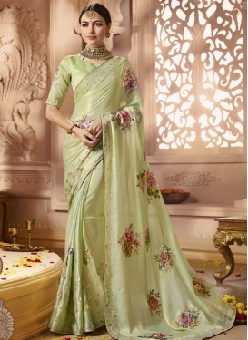 Satin Georgette Trendy Classic Saree