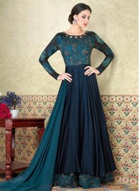 Satin Layered Designer Salwar Kameez
