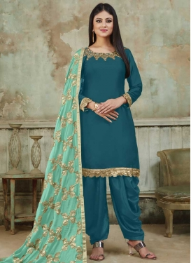Satin Semi Patiala Salwar Suit
