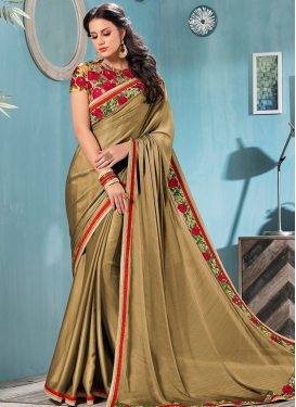 Satin Silk Classic Saree For Festival