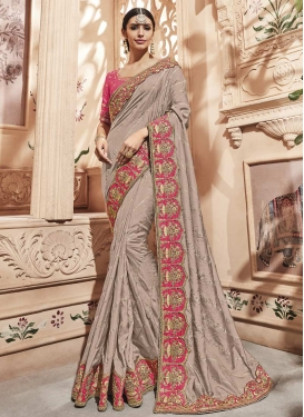 Satin Silk Contemporary Saree For Festival