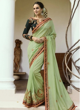 Satin Silk Contemporary Style Saree