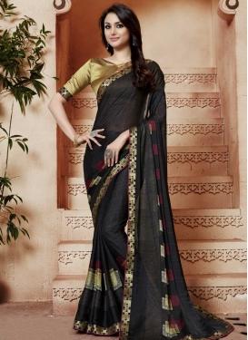 Satin Silk Contemporary Style Saree