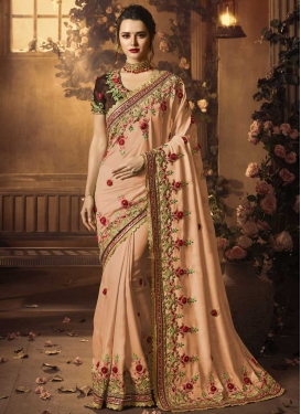 Satin Silk Designer Contemporary Saree For Party