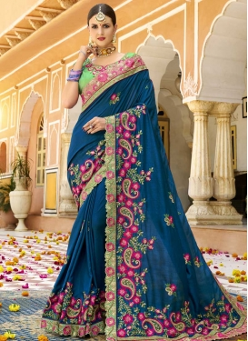 Satin Silk Designer Contemporary Style Saree