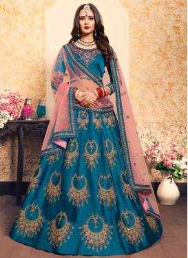 Satin Silk Designer Lehenga Choli For Ceremonial