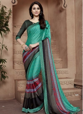 Satin Silk Designer Traditional Saree For Ceremonial