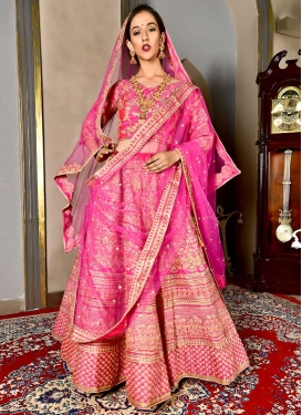 Satin Silk Lehenga Choli For Bridal