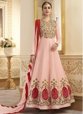 Satin Silk Long Length Anarkali Suit