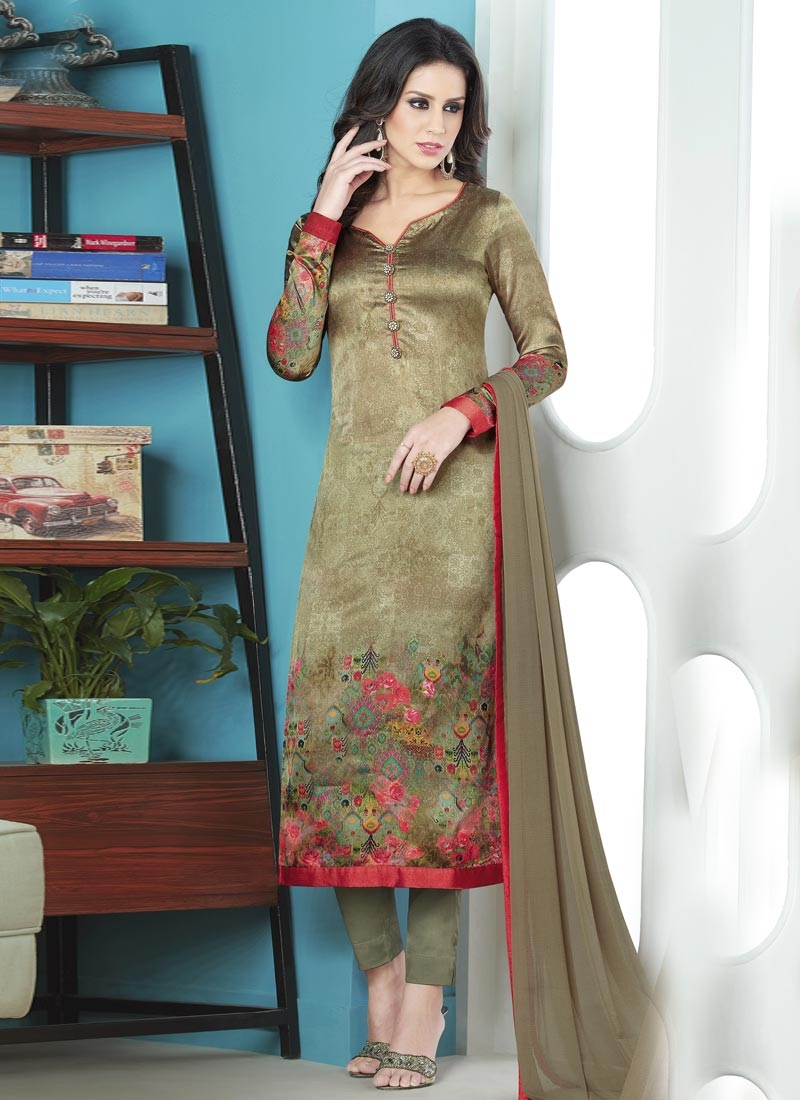 3db987a17d Buy Satin Silk Pant Style Pakistani Salwar Suit Online In Canada