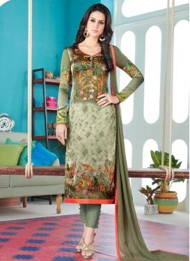 Satin Silk Pant Style Pakistani Suit