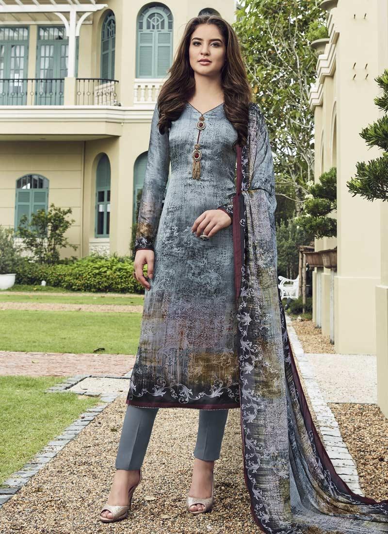 Satin Silk Pant Style Straight Suit