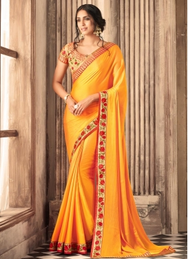 Satin Silk Traditional Saree For Ceremonial