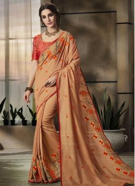 Satin Silk Traditional Saree For Festival