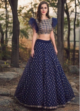 Satin Silk Trendy A Line Lehenga Choli For Ceremonial