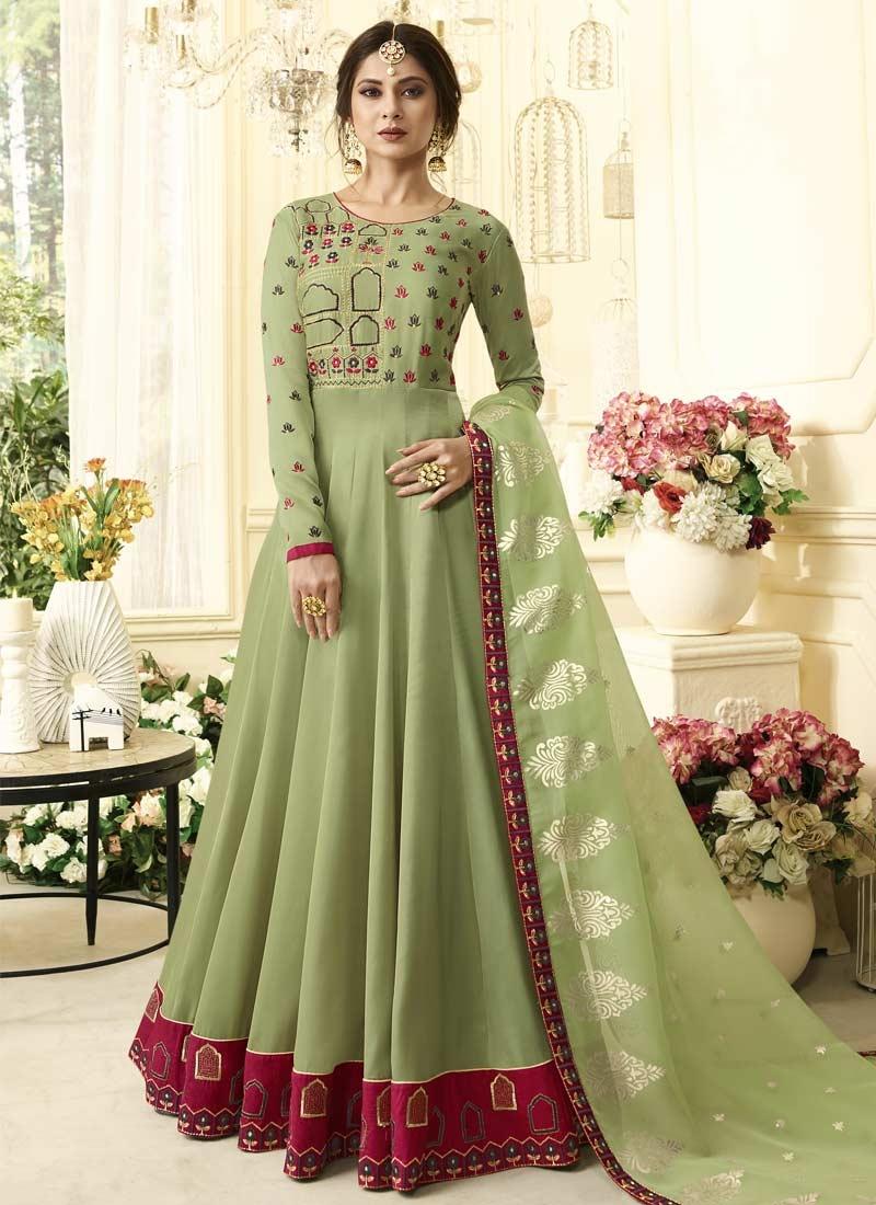 Trendy Indian Wedding Party Wear Ladies Designer Anarkali: Buy Satin Silk Trendy Anarkali Salwar Kameez Online
