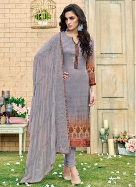 Satin Silk Trendy Churidar Salwar Kameez