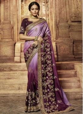 Satin Silk Trendy Classic Saree For Bridal