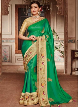 Satin Silk Trendy Classic Saree For Ceremonial
