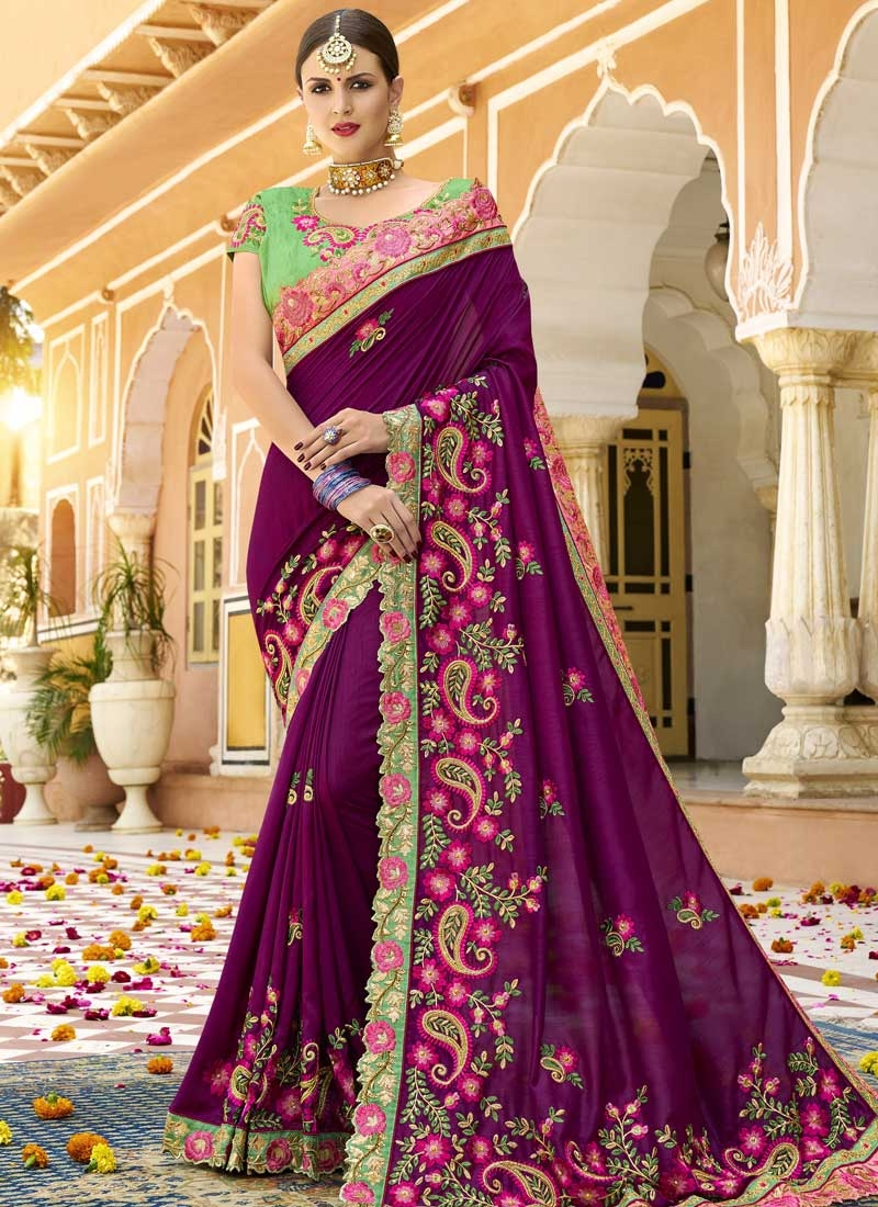 Satin Silk Trendy Classic Saree For Festival