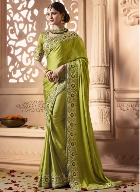 Satin Silk Trendy Classic Saree For Festival
