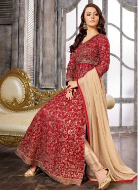 Satin Silk Trendy Designer Salwar Kameez