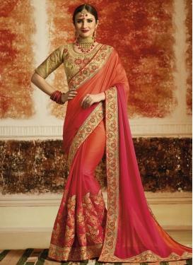 Satin Silk Trendy Designer Saree