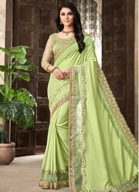 Satin Silk Trendy Designer Saree
