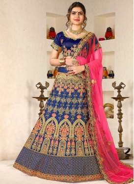 Satin Silk Trendy Lehenga